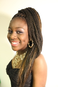 Protective natural Senegalese Twist